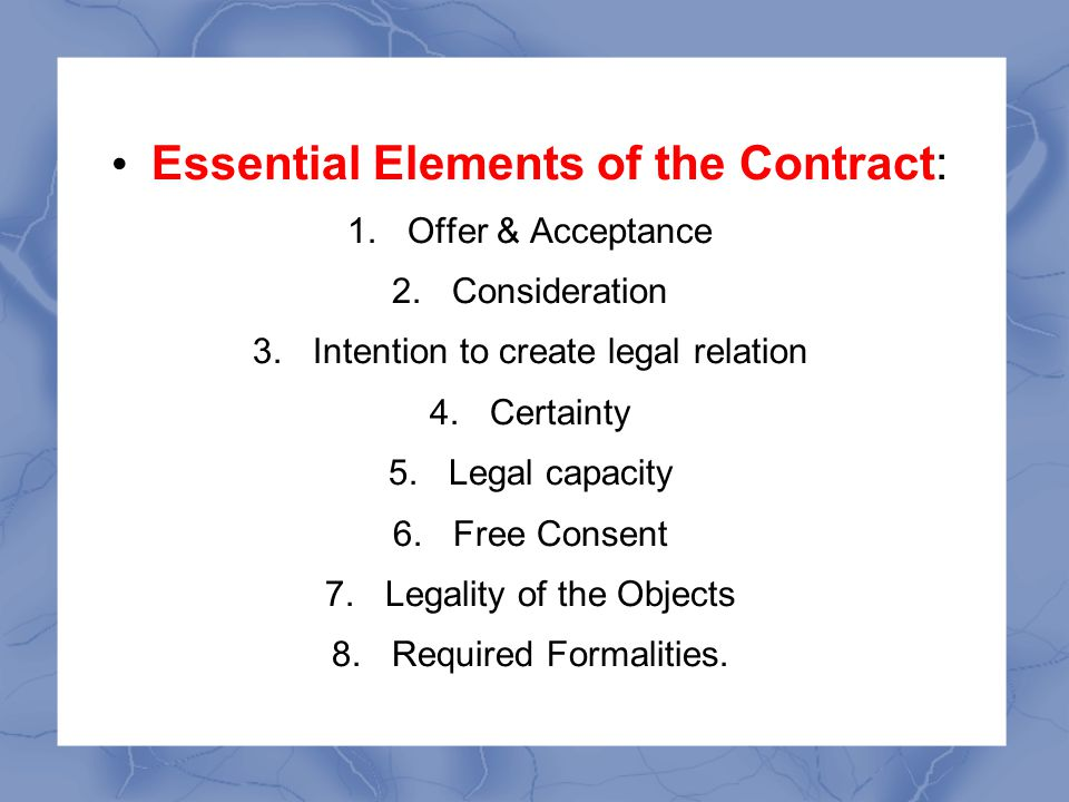 Law Of Contract Prepared By Norazla Abdul Wahab  Ppt Video Online