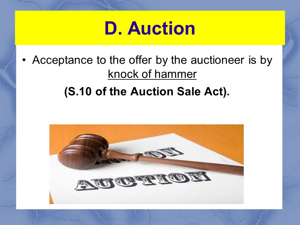 (S.10 of the Auction Sale Act).