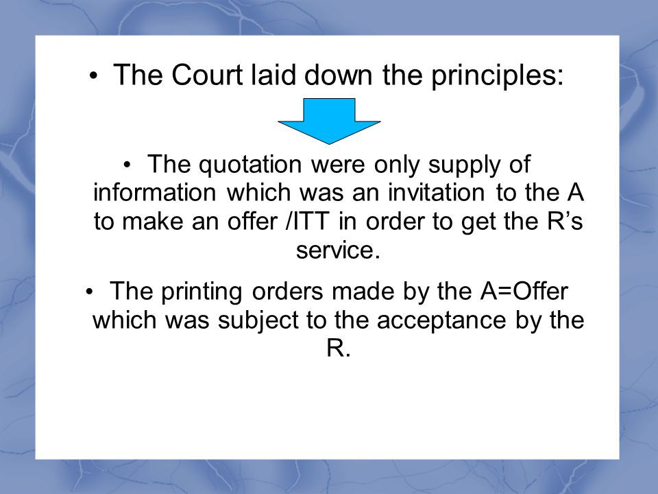 The Court laid down the principles: