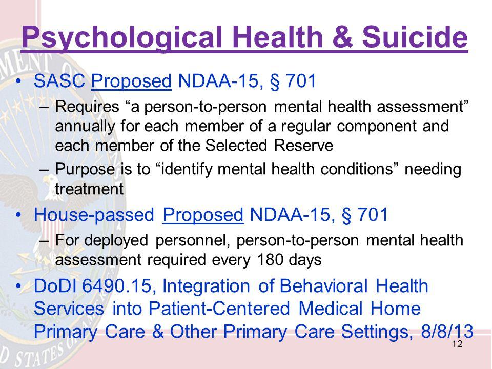 Psychological Health & Suicide