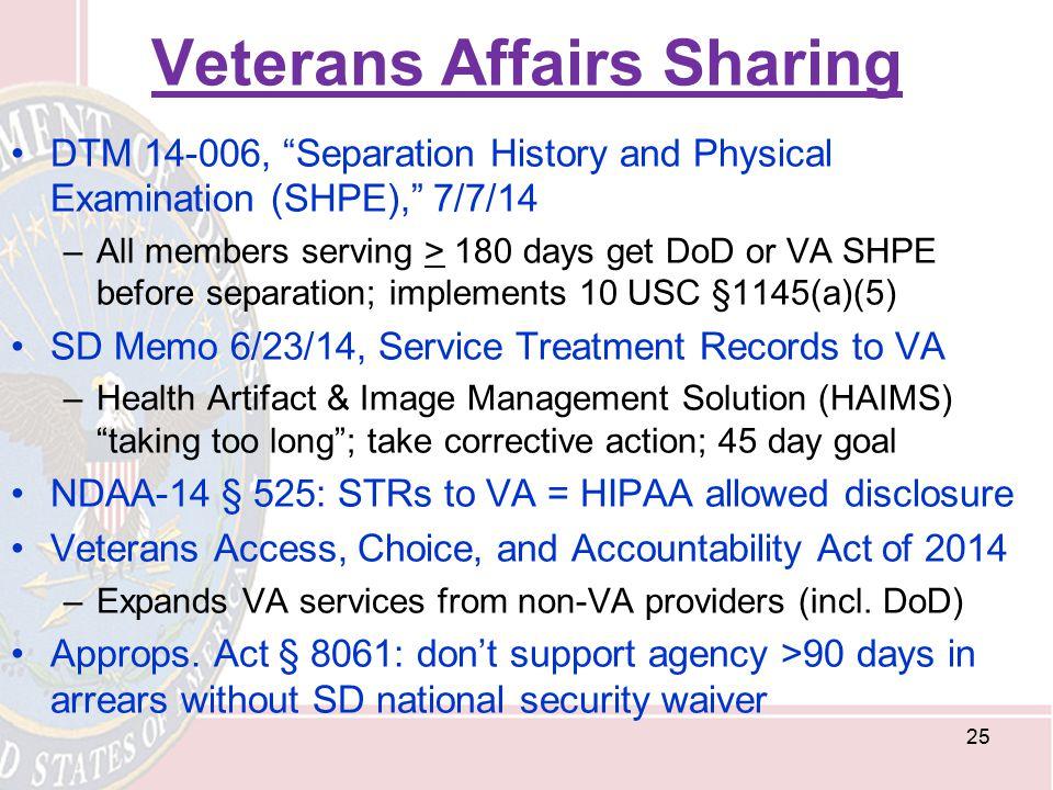 Veterans Affairs Sharing