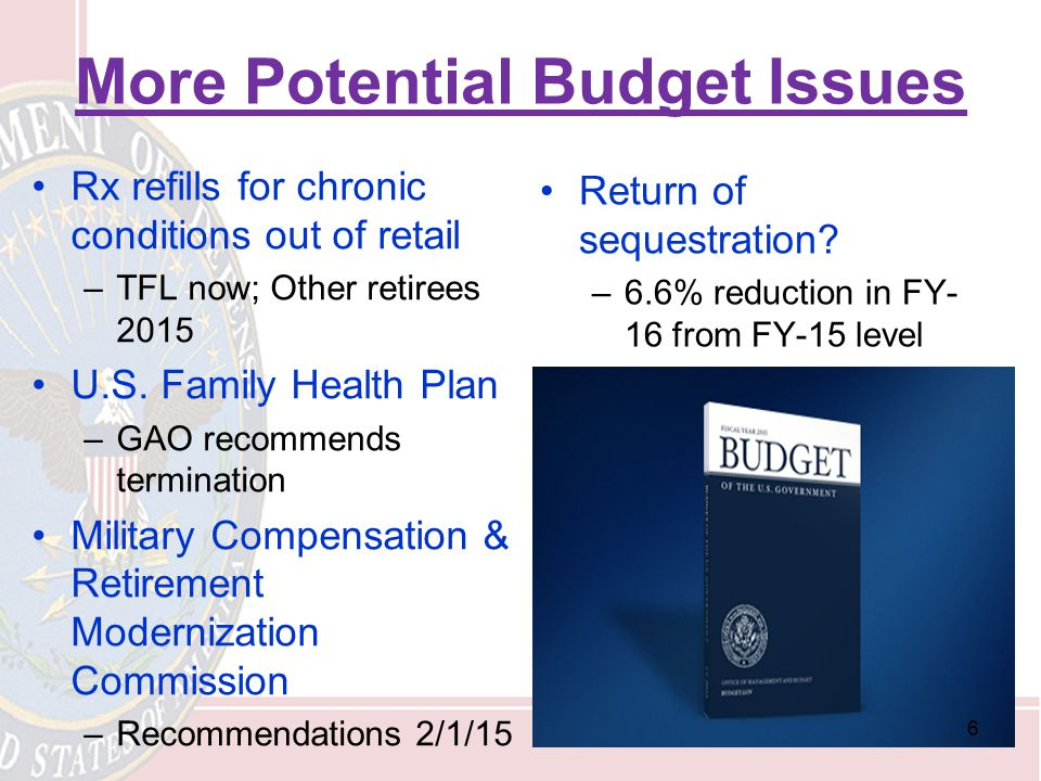 More Potential Budget Issues