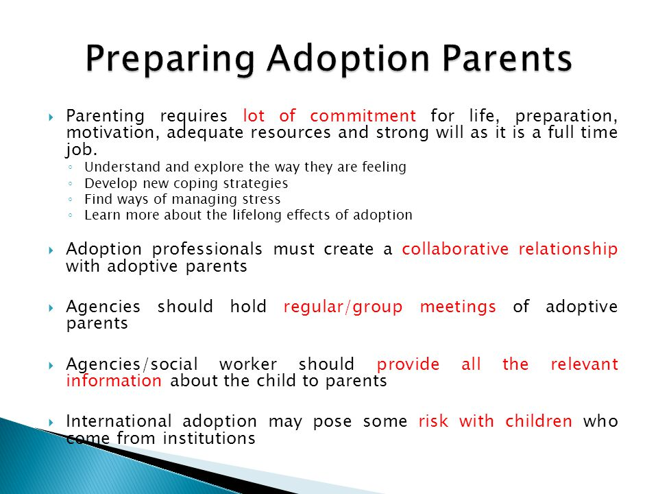 Preparing Adoption Parents