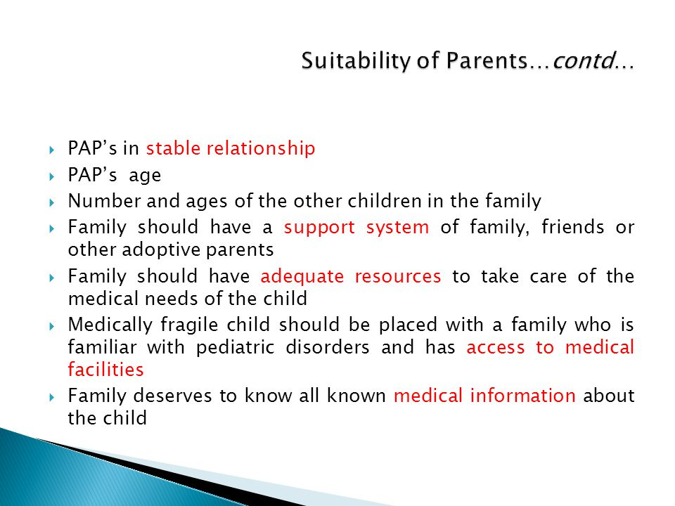 Suitability of Parents…contd…
