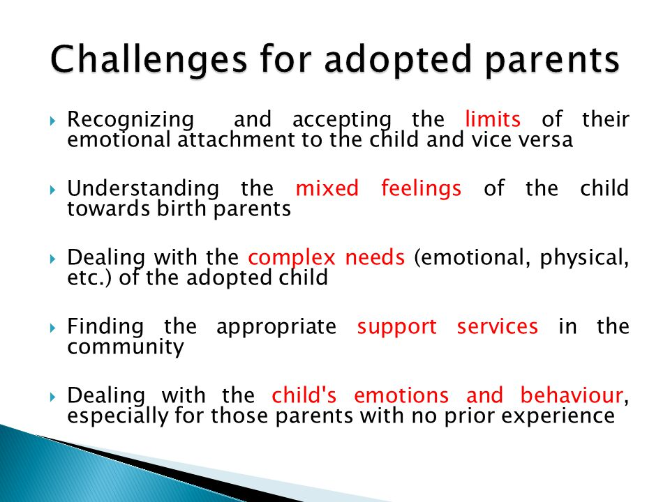 Challenges for adopted parents
