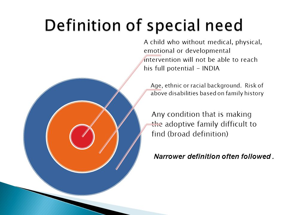 Definition of special need
