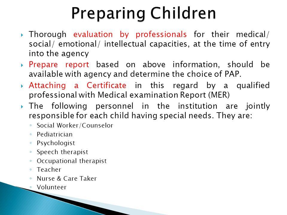 Preparing Children