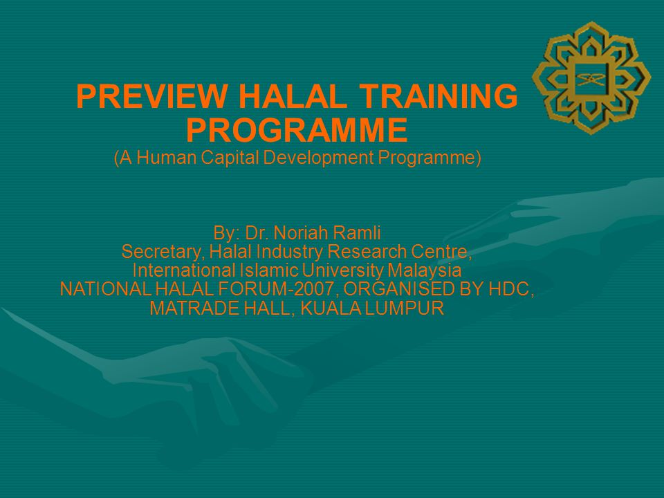 PREVIEW HALAL TRAINING PROGRAMME