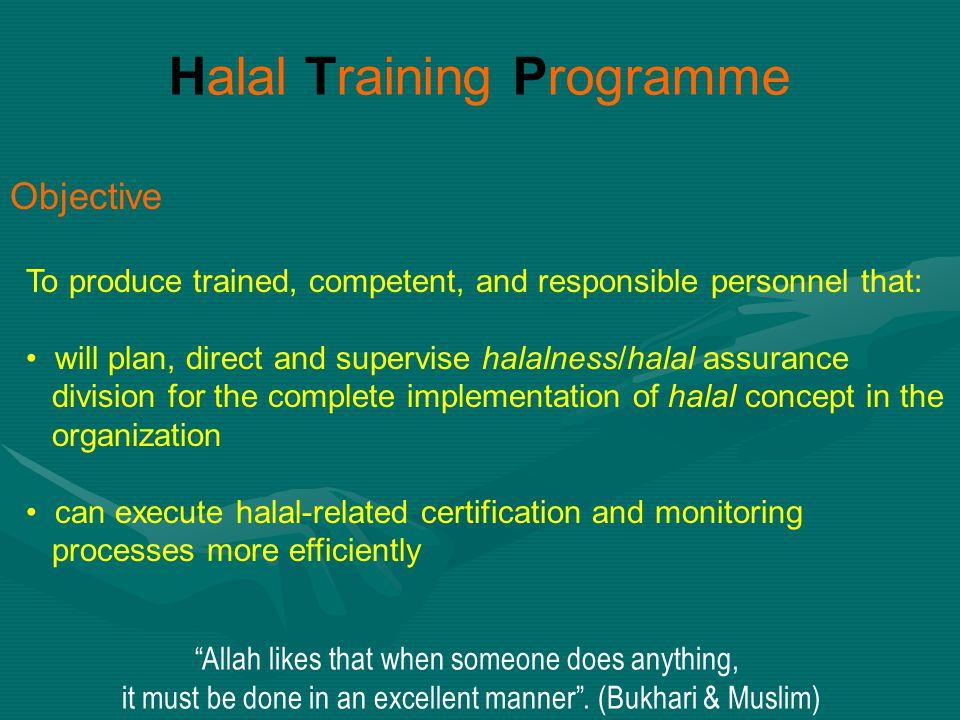 Halal Training Programme
