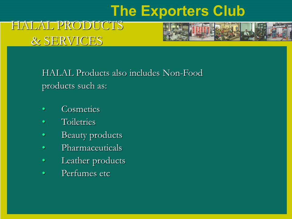 HALAL PRODUCTS & SERVICES