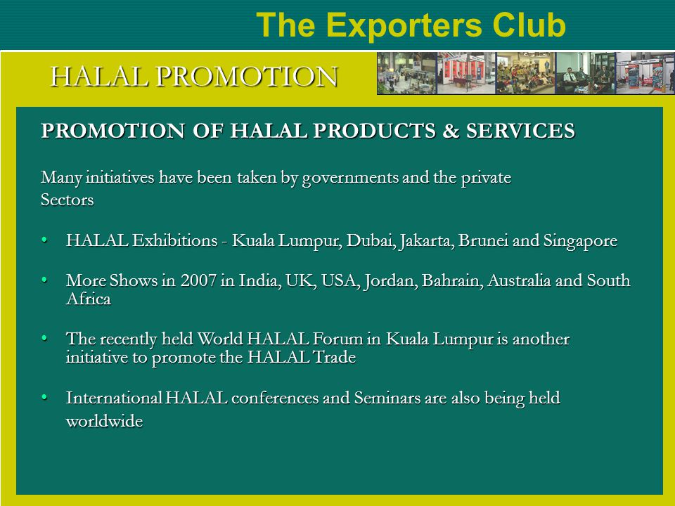 The Exporters Club HALAL PROMOTION