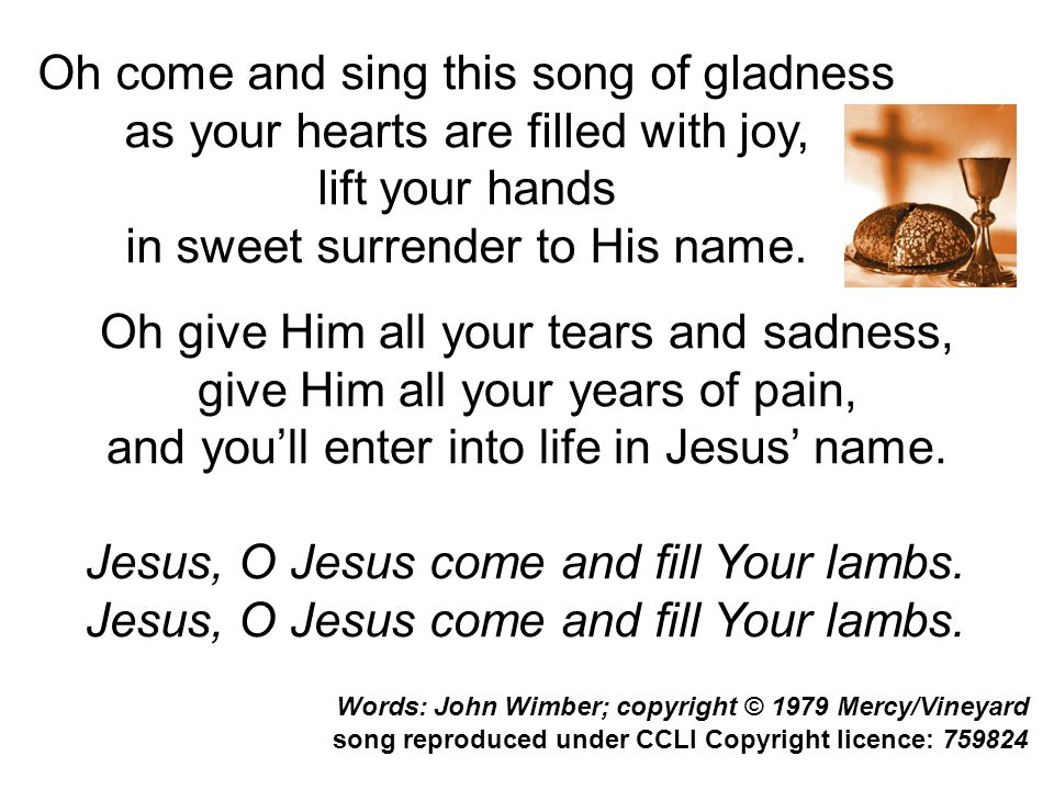 Oh come and sing this song of gladness