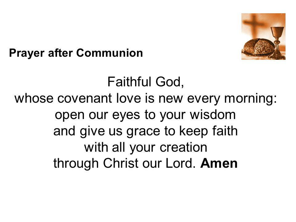whose covenant love is new every morning: open our eyes to your wisdom