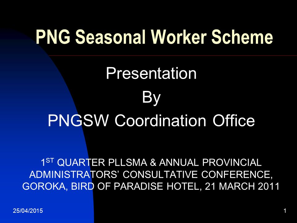 PNG Seasonal Worker Scheme