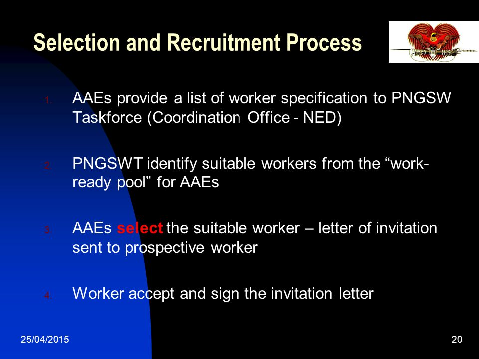 Selection and Recruitment Process