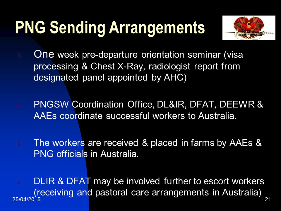 PNG Sending Arrangements
