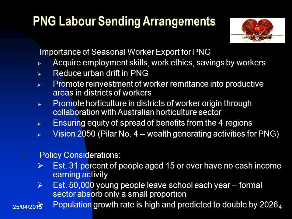 PNG Labour Sending Arrangements