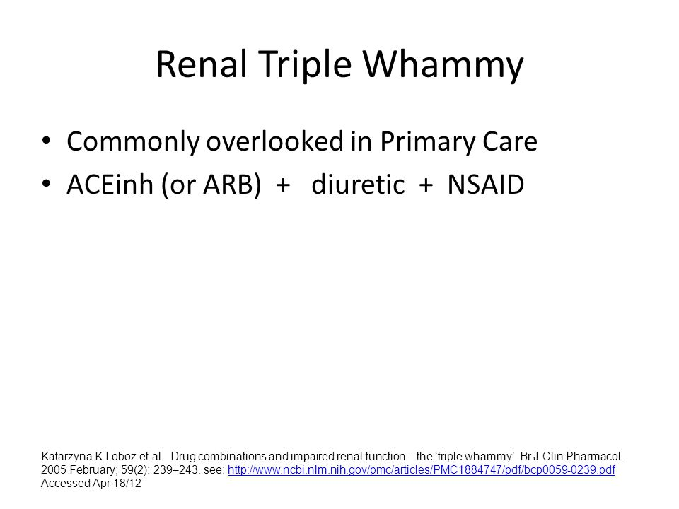 Renal Triple Whammy Commonly overlooked in Primary Care