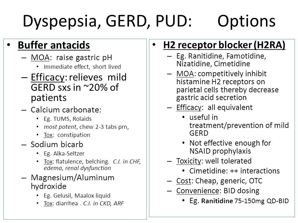 Dyspepsia, GERD, PUD: Options
