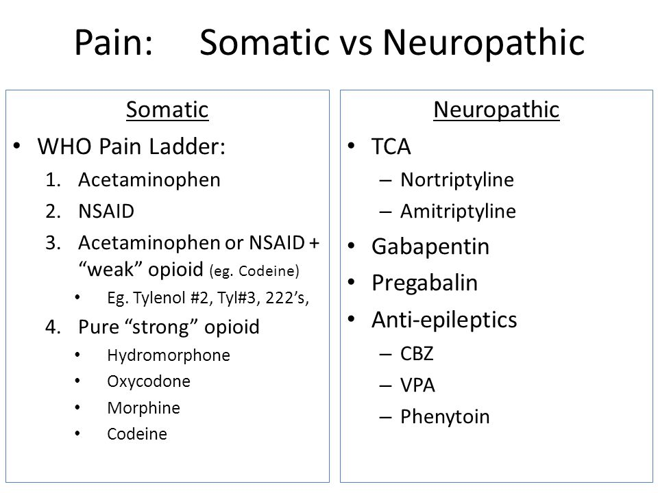 Pain: Somatic vs Neuropathic