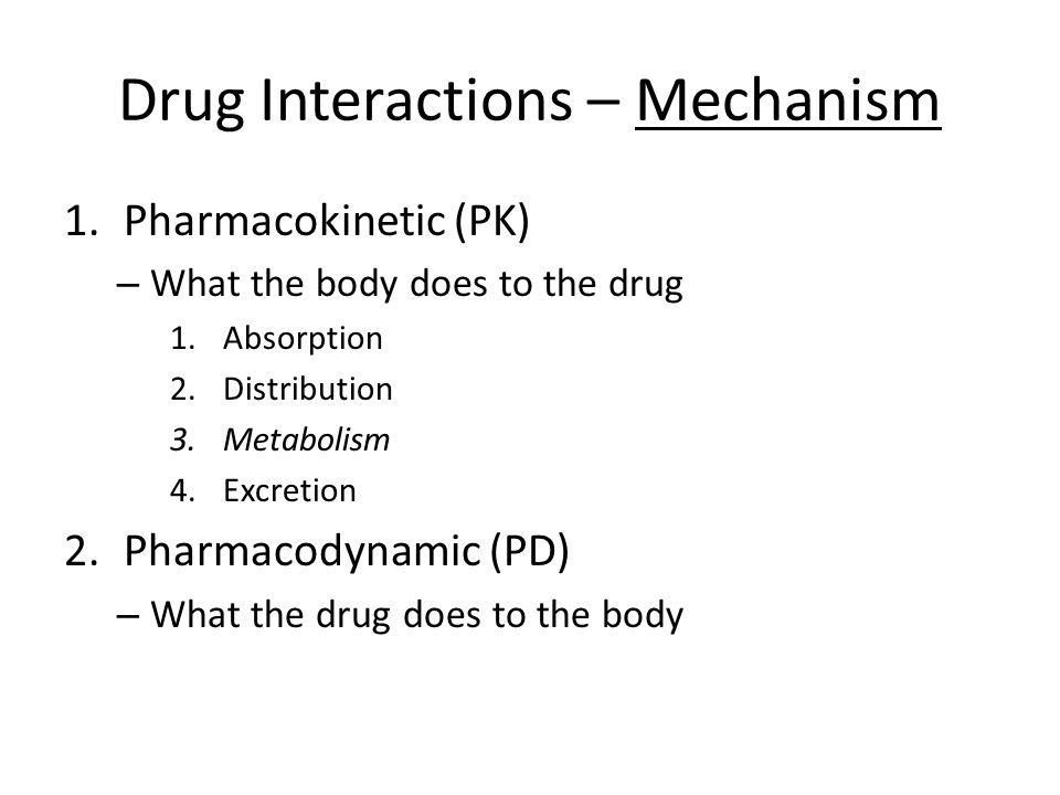 Drug Interactions – Mechanism