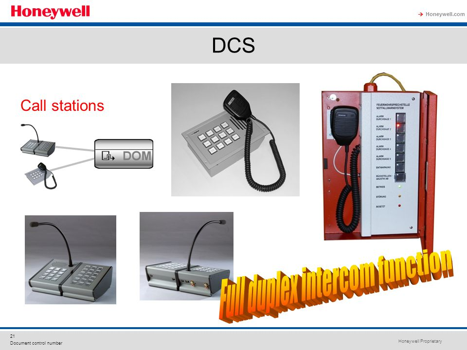 Full duplex intercom function
