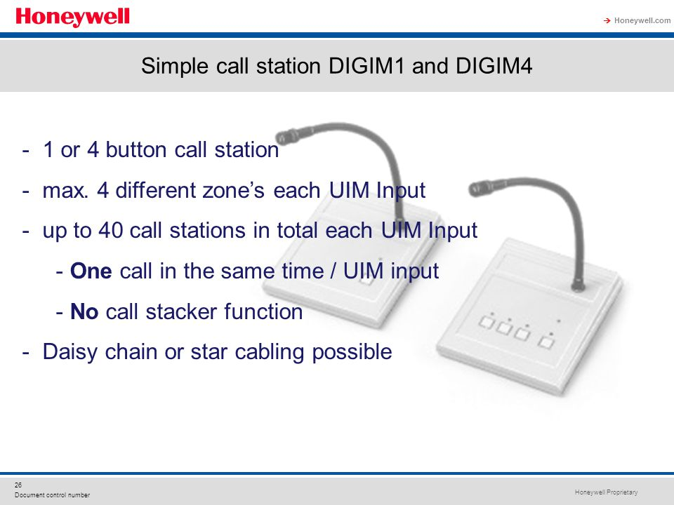 Simple call station DIGIM1 and DIGIM4