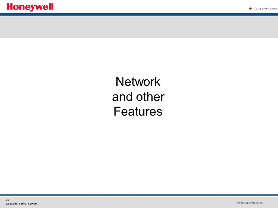 Network and other Features