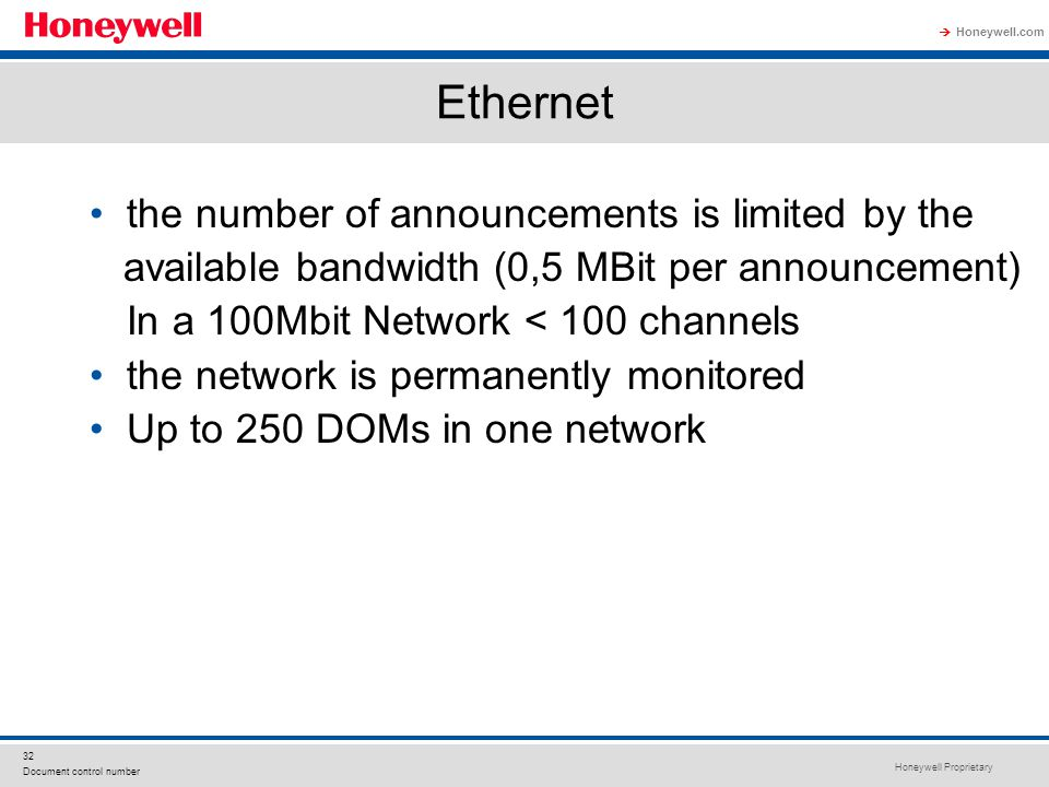 Ethernet the number of announcements is limited by the