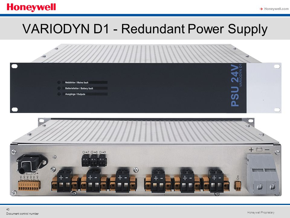 VARIODYN D1 - Redundant Power Supply