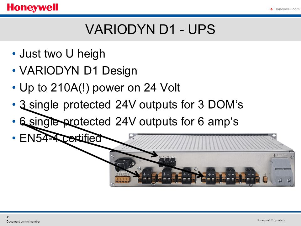VARIODYN D1 - UPS Just two U heigh VARIODYN D1 Design