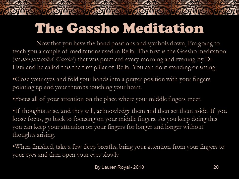 The Gassho Meditation