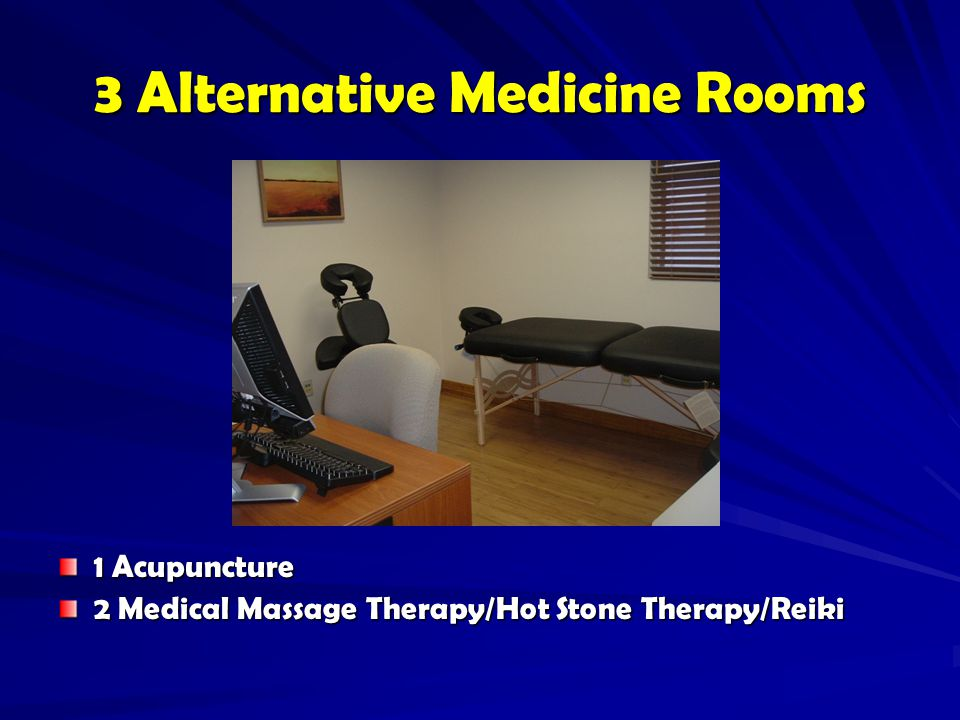 3 Alternative Medicine Rooms