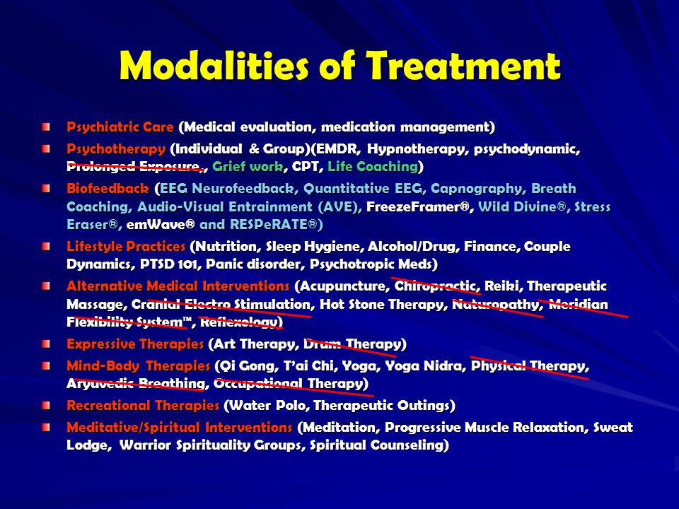 Modalities of Treatment