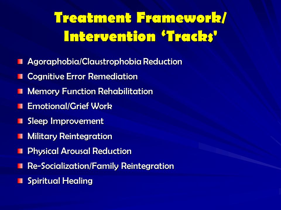 Treatment Framework/ Intervention 'Tracks