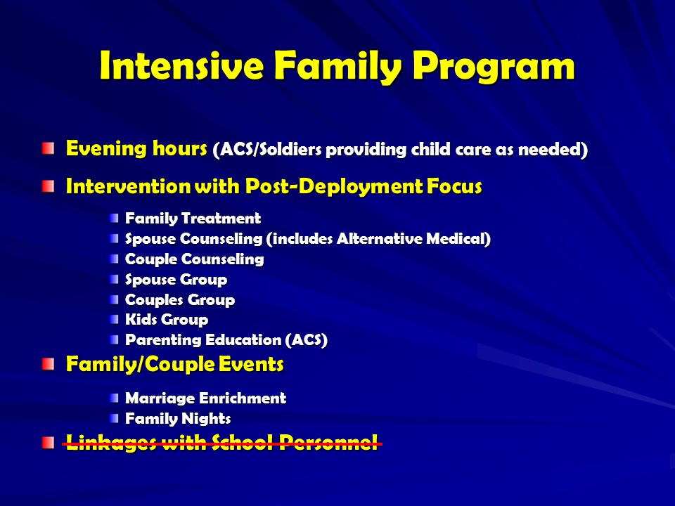 Intensive Family Program