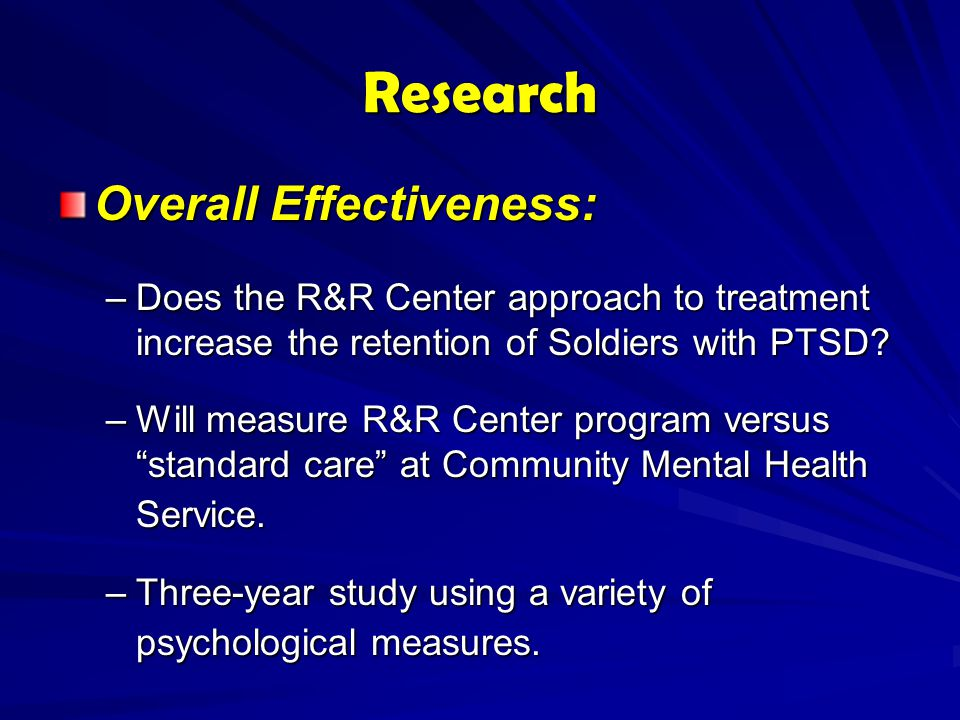 Research Overall Effectiveness:
