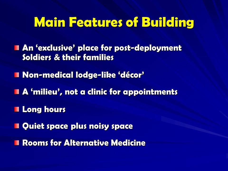 Main Features of Building