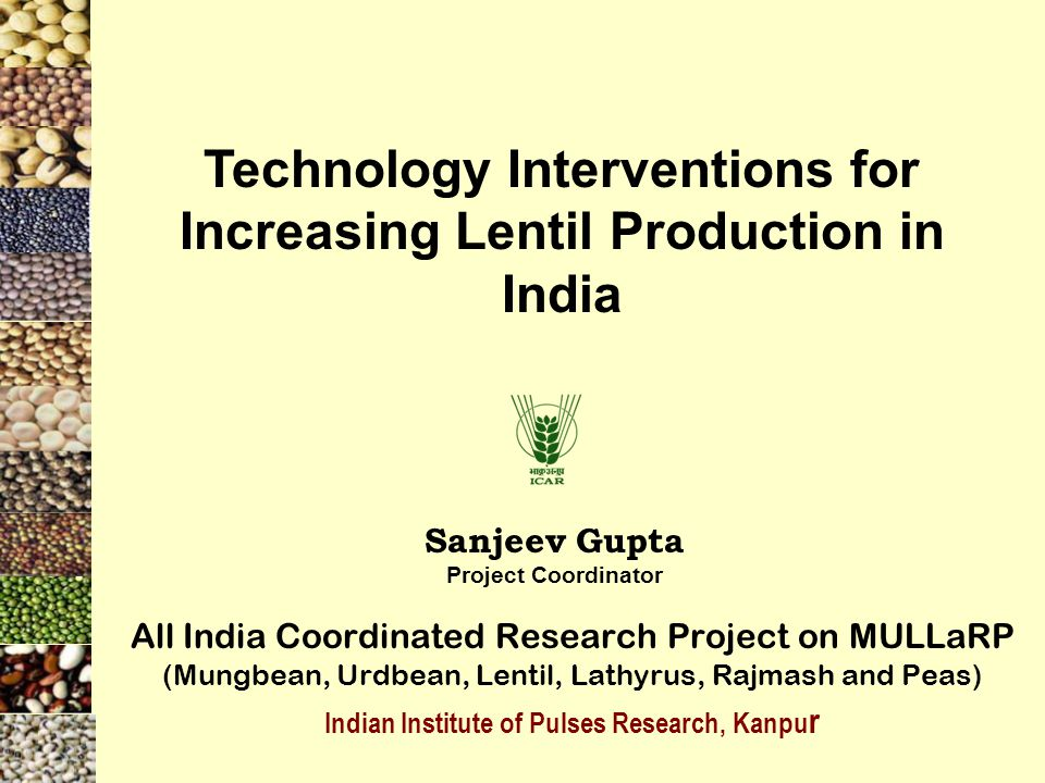 Technology Interventions for Increasing Lentil Production in India