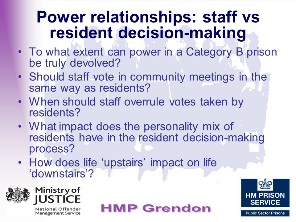 Power relationships: staff vs resident decision-making
