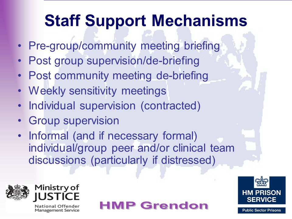 Staff Support Mechanisms