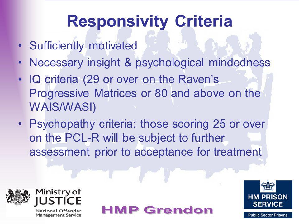 Responsivity Criteria