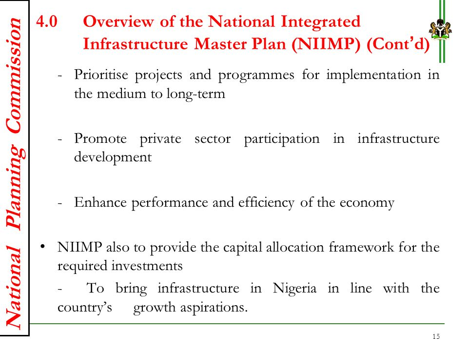 4. Overview of the National Integrated