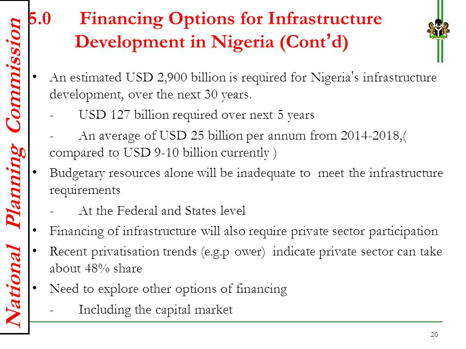 5. Financing Options for Infrastructure