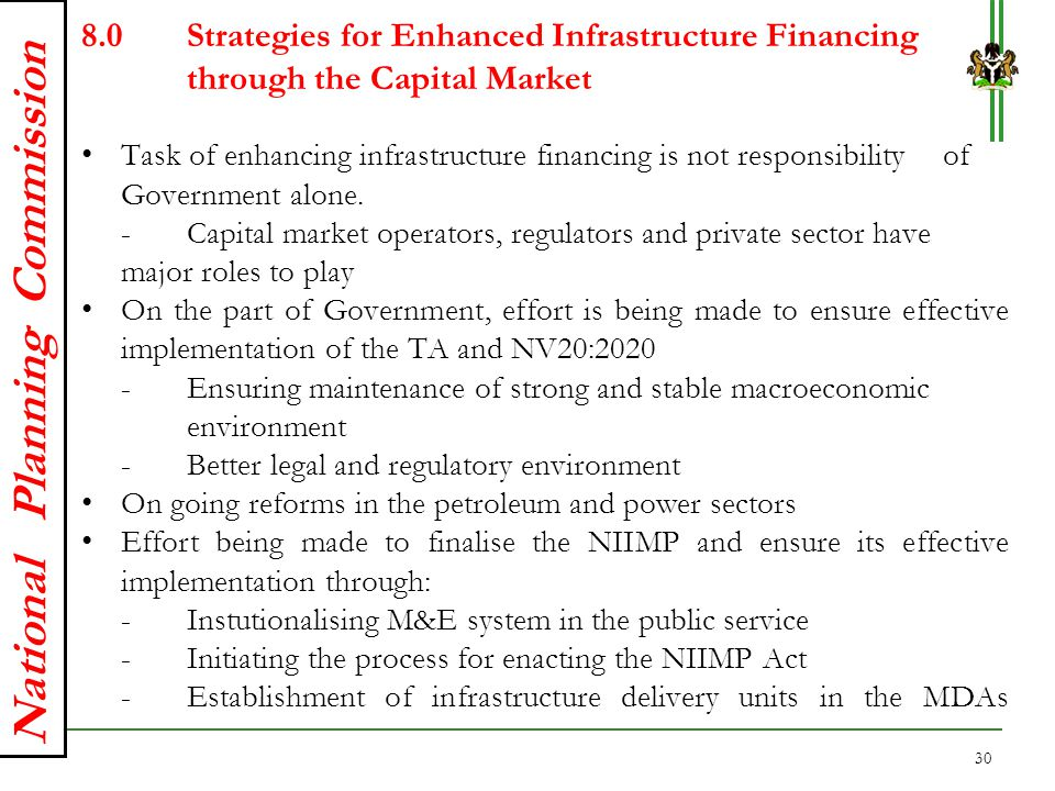 8. Strategies for Enhanced Infrastructure Financing