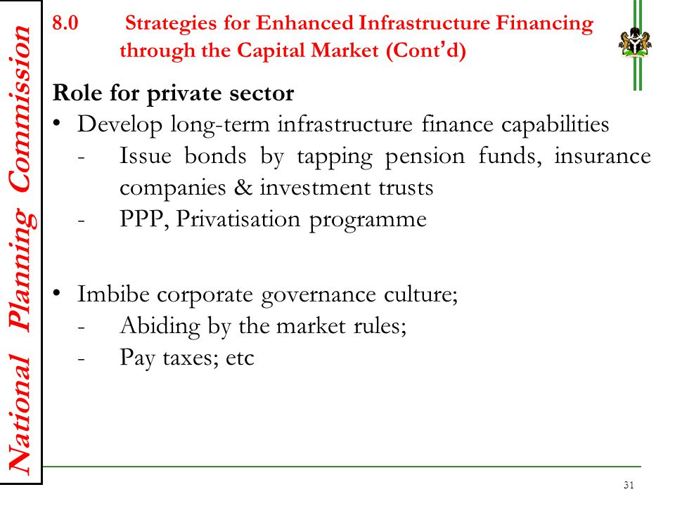 Role for private sector