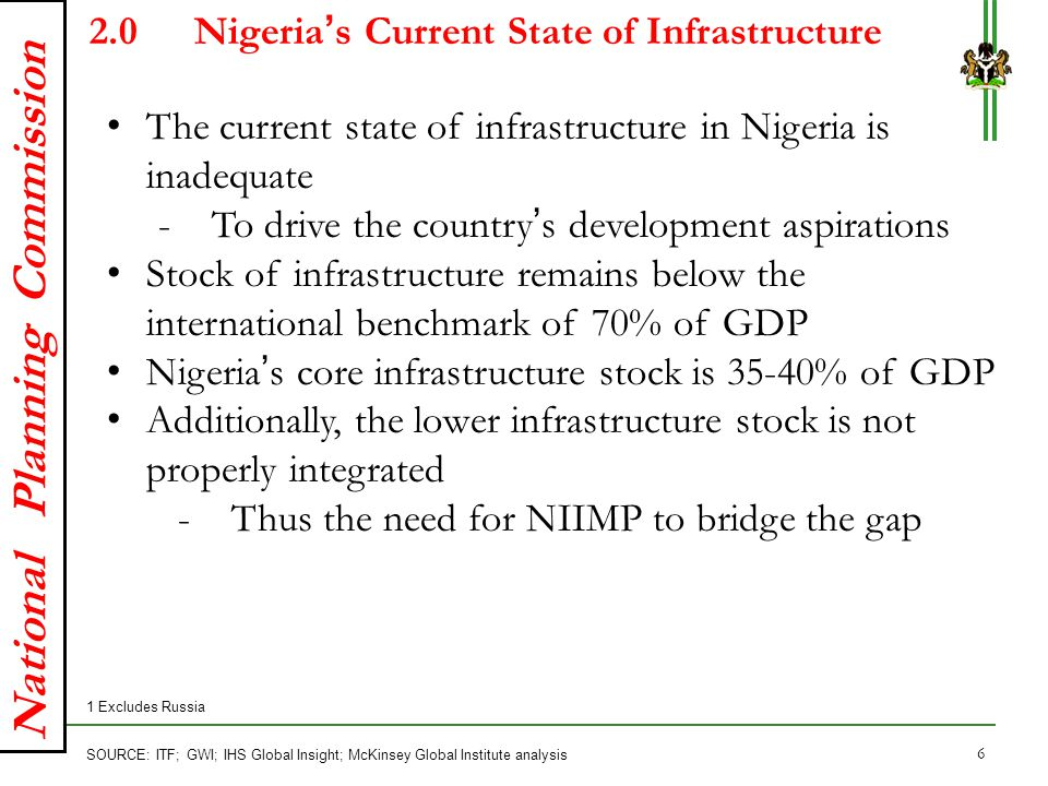 2.0 Nigeria's Current State of Infrastructure
