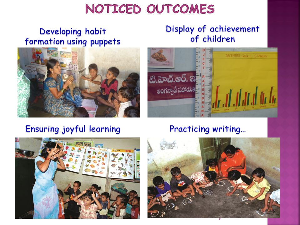 Noticed Outcomes Developing habit formation using puppets