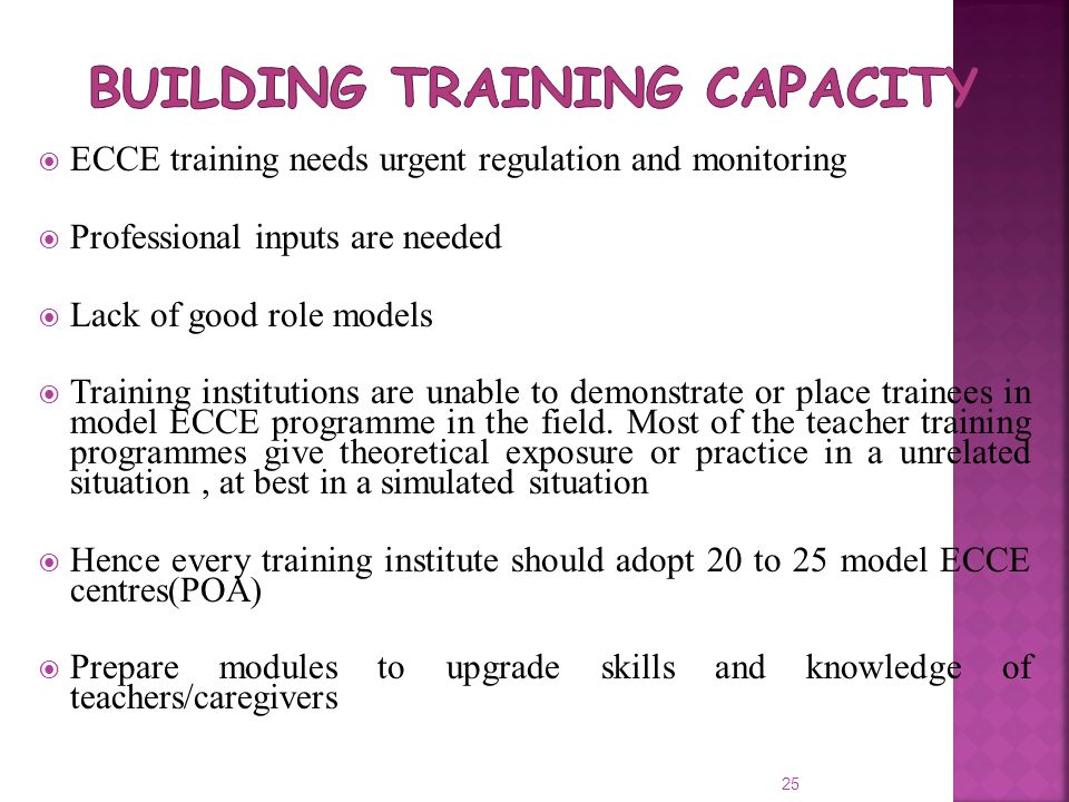 Building Training Capacity