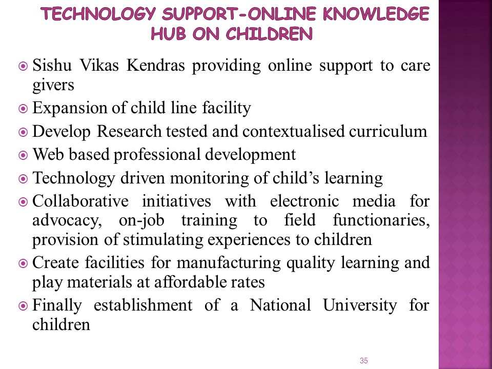 Technology Support-Online knowledge hub on children